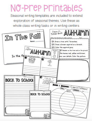 Extend learning after craft projects by using these seasonal writing templates