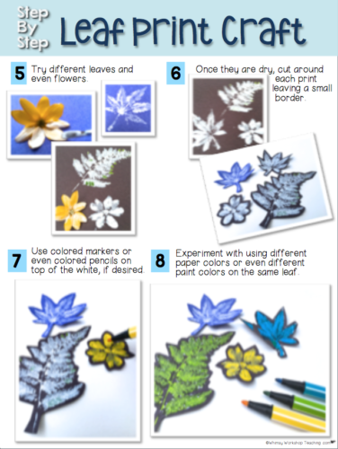 Step by Step directions can be projected for students to follow as they create their cute crafts!