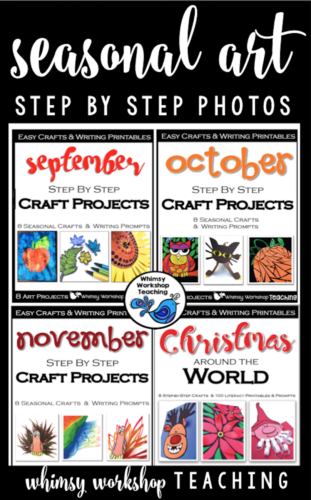 There are 32 art ideas, activities and projects in this collection of seasonal craft activities with step by step photos. Perfect for grade one or grade two arts and crafts fall, autumn, Halloween, Thanksgiving and Christmas around the world.