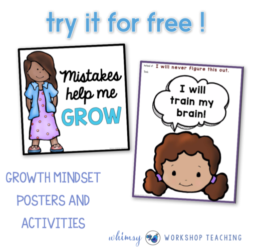 Click to download free growth mindset poster and activities
