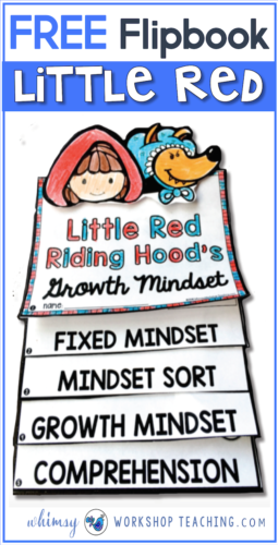 This free flip book can be used with any version of the fairy tale, and explores both STEM and Growth Mindset concepts!