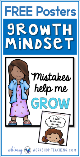 Free posters to promote a growth mindset  - perfect for writing prompts and discussions about growth mindset concepts!