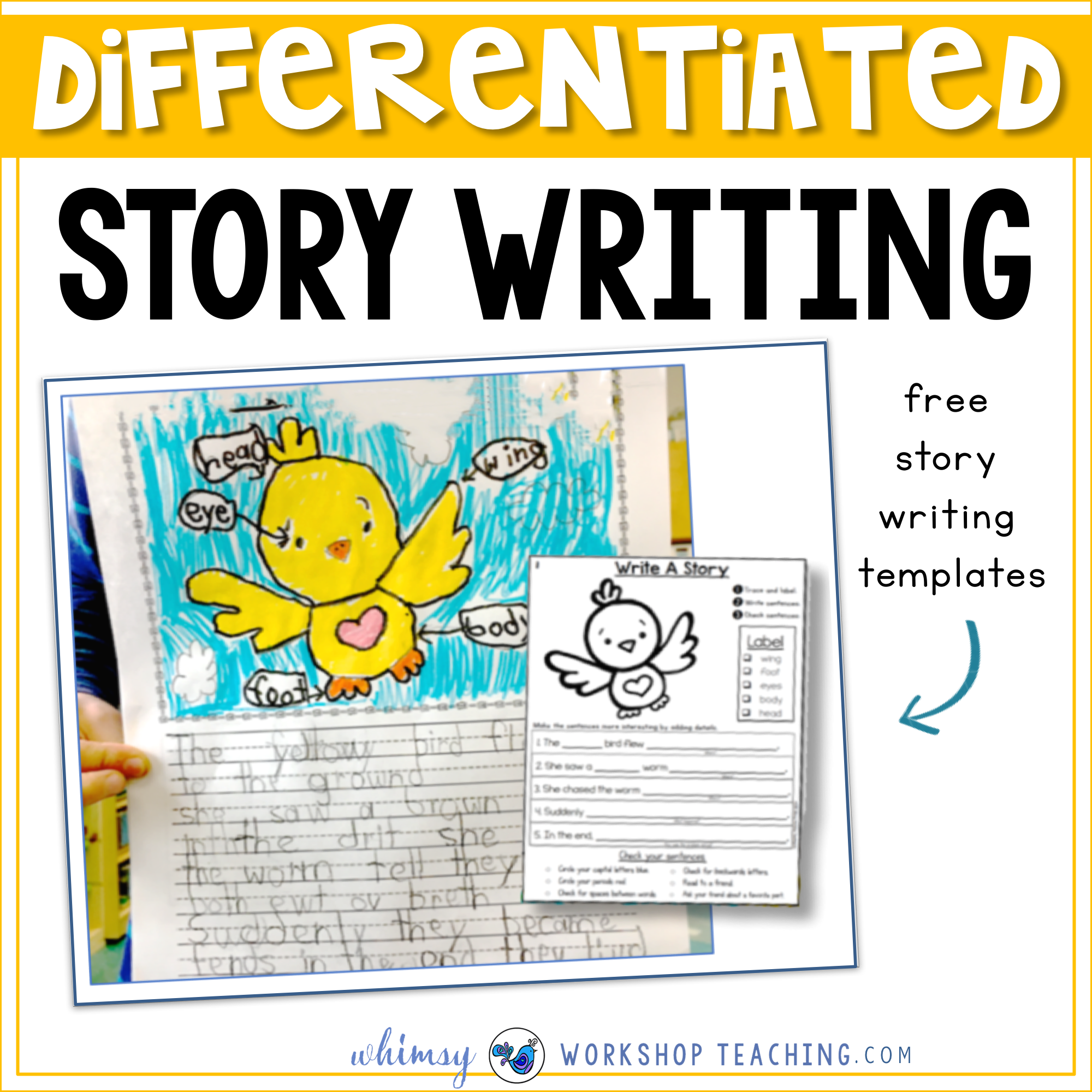 Differentiated story writing templates and ideas