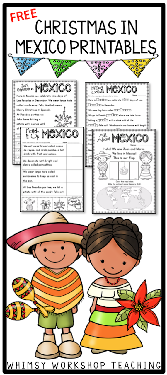 Does Mexico Celebrate Christmas.Free Sample Pages To Celebrate Christmas In Mexico From The