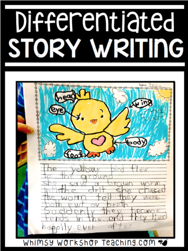 Complete set of 50 supported and differentiated story writing templates for elementary writer's workshop or writing centers