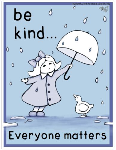 Encourage kindness in your classroom with this free poster.