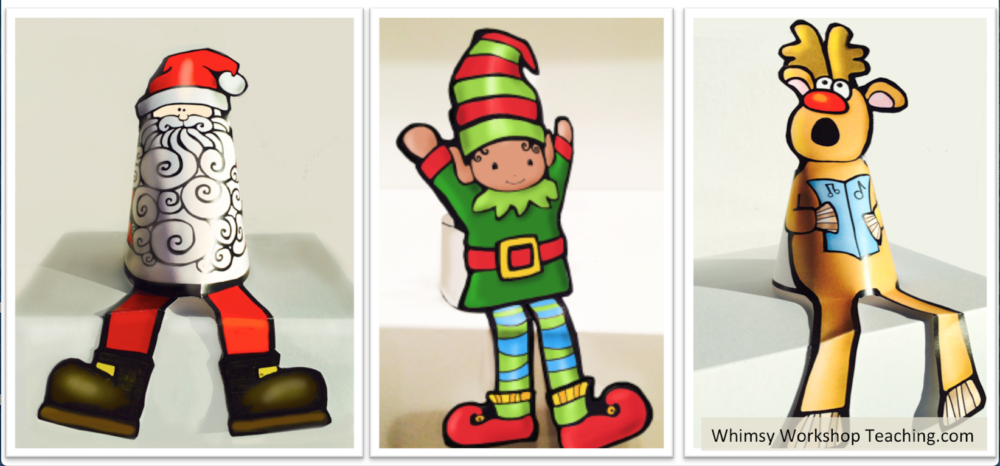 Such cute little stand up characters to decorate the classroom. Print, color and glue the tab on the back to make it sit on the ledge.