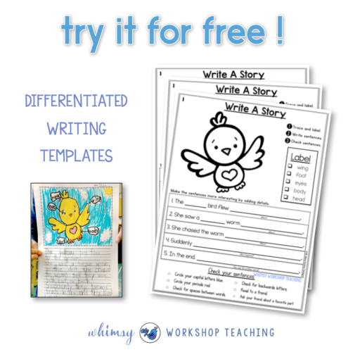 Differentiate writing templates that support students in organizing and writing their story