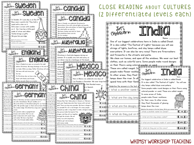 Christmas Around the World Book List FREEBIE - Clever Classroom Blog | 500x667