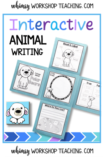 Animal Writing Flap Books