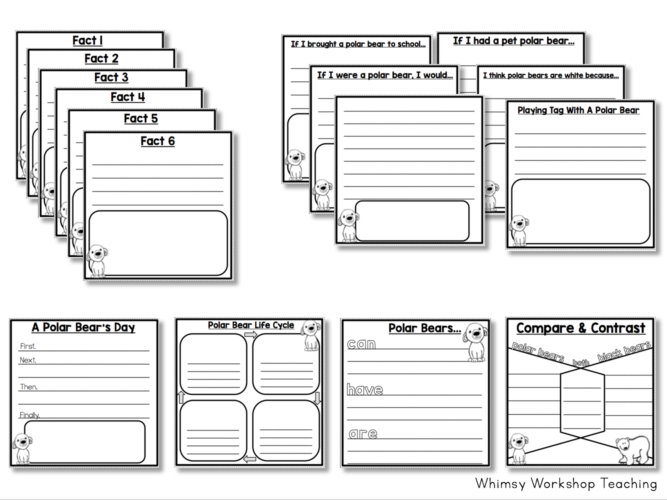 Animal Flap Books for differentiating your non-fiction projects with no prep!