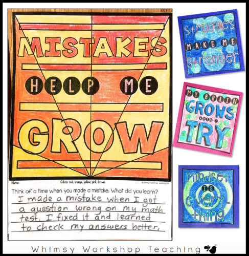 Color and Write Growth Mindset Banners