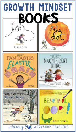 Books to read with your students to explore growth mindset and connect the idea of growth mindset to real experiences (free downloads)