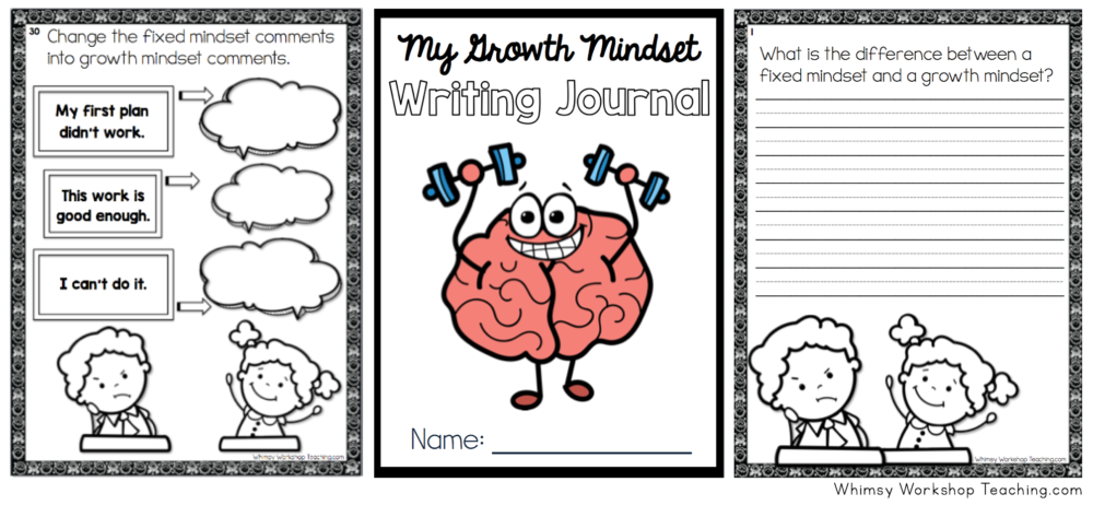 Growth Mindset Journal writing