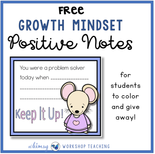 Free set of positive notes for students to give and receive