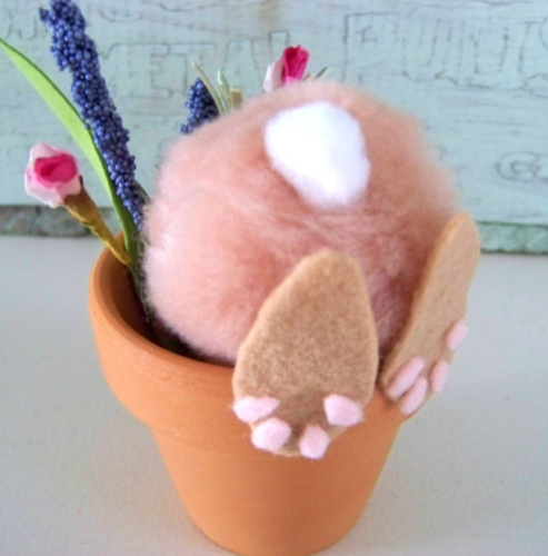 Bunny Flower Pot Easter Craft