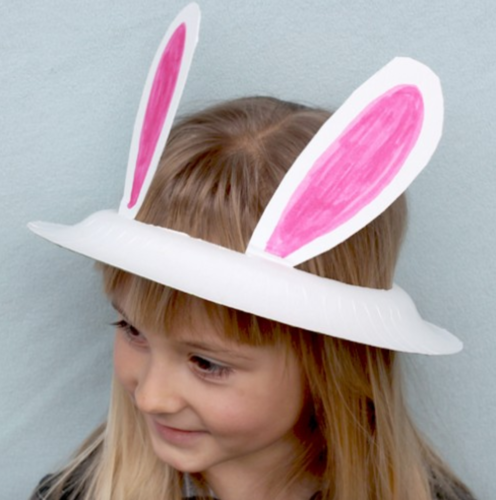 Easter Bunny Hat Paper Plate craft