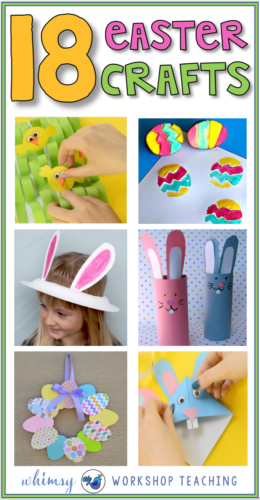 18 Craft ideas for easter fun with primary students.