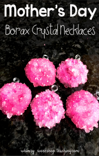 Add a little SCIENCE to your mothers day with these gorgeous crystal necklaces - so simple and mom will love it!