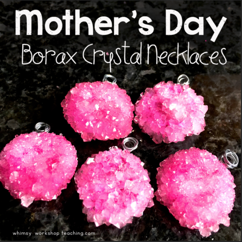 Borax and pipe cleaners are all you need for this mother's day gift.