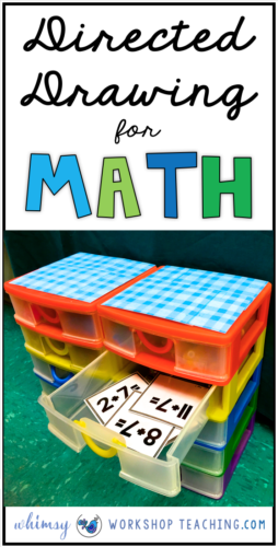 Directed Drawing for Math is a fun way to practice core math facts every day in your classroom! Lots of info about storing task cards and ways to engage reluctant workers! (free downloads)