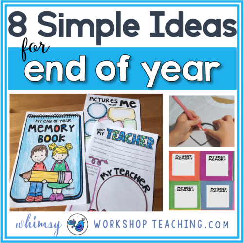Simple End Of Year Ideas