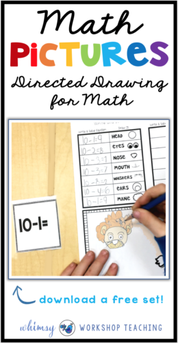 Math Pictures is like directed drawing for MATH! Using math task cards, students record and solve core math questions and then draw a picture as directed! So fun to do in partners - this will be your students' favorite math center!