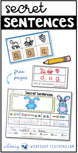 Practice phonics and letter sound recognition while writing words and sentences! These engaging no-prep activities will fill your literacy centers all year!