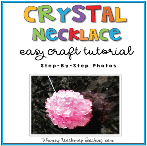 Free downloadable tutorial for Borax crystals