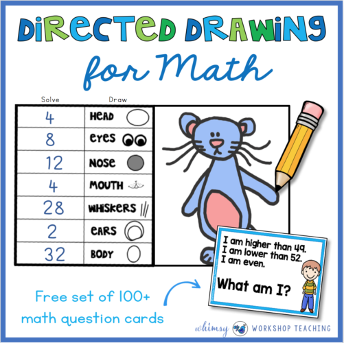 FREE directed drawing for math sample pack