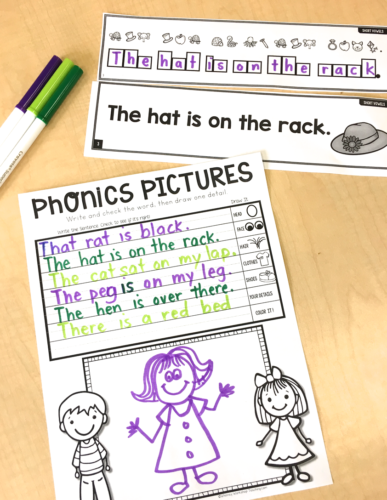 Directed Drawing for Phonics Sentences