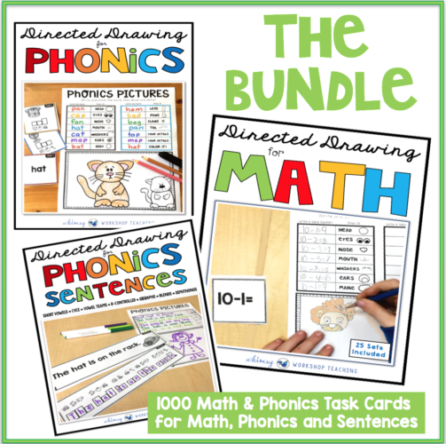 The Directed Drawing For Phonics and Math Bundle