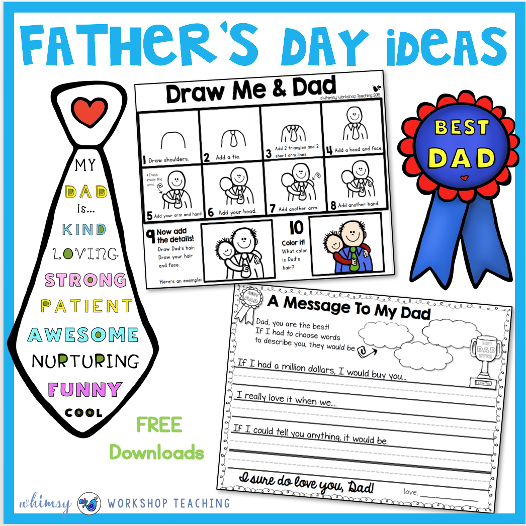 Father's Day Directed Drawing Ideas - Whimsy Workshop Teaching