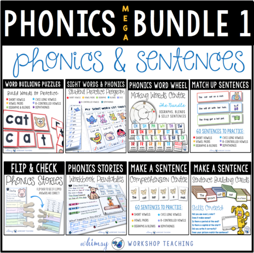 Phonics MEGA Bundle 1 Whimsy Workshop Teaching