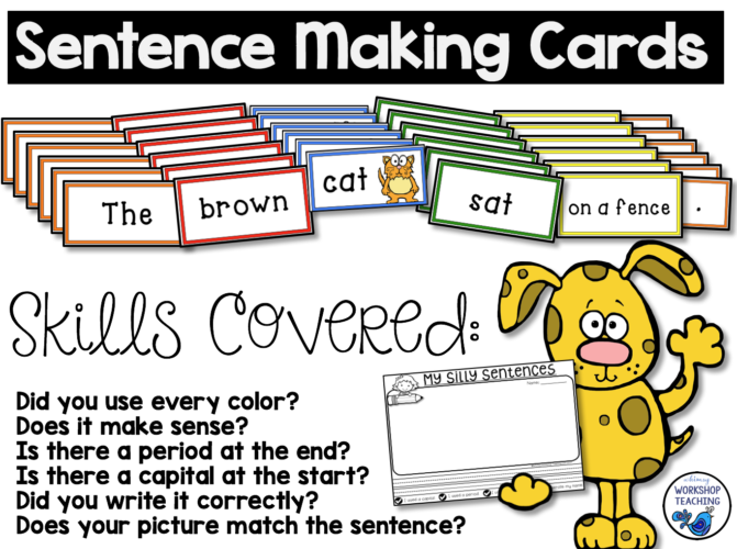 Sentence Making Cards