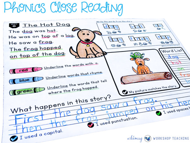 Phonics Close Reading Printables
