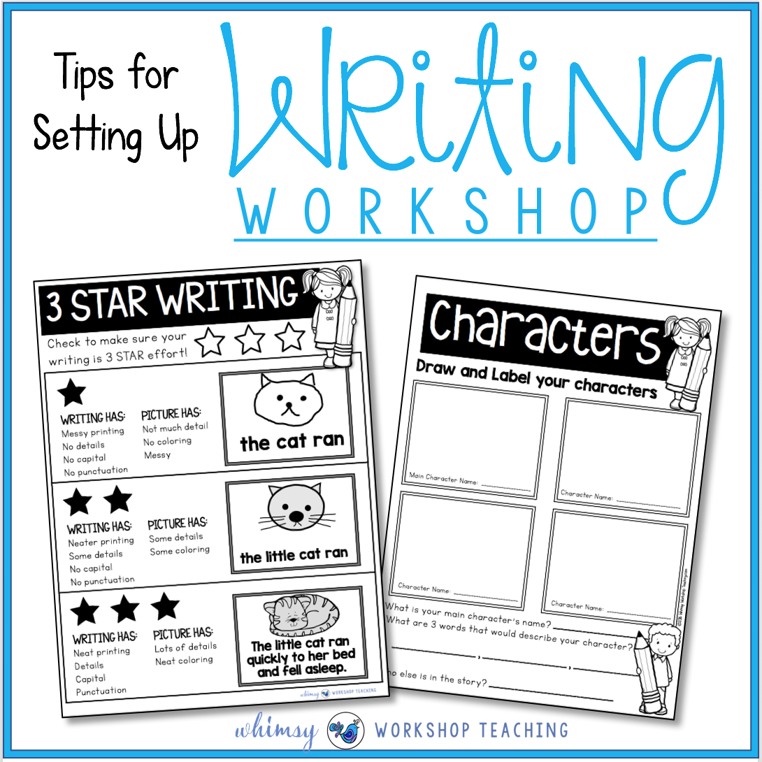 Tips for setting up writer's workshop and centers in your classroom
