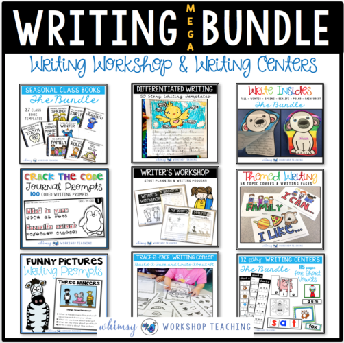 Writing Workshop Bundle contains 9 complete sets to walk you through writing workshop set up, publishing and independent writing centers.