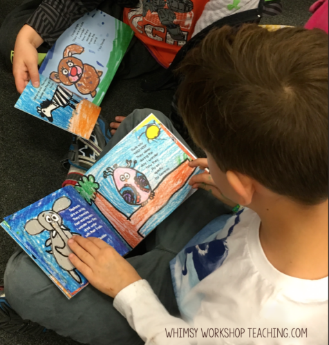 Our Class books were published at a local print shop!