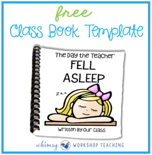 Free class book templates