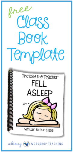 Download this FREE class template for making a class book together! Each student writes one page to create a class book that can be added to your classroom library.