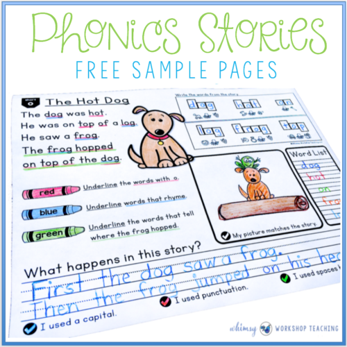 Phonics Stories free sample pages