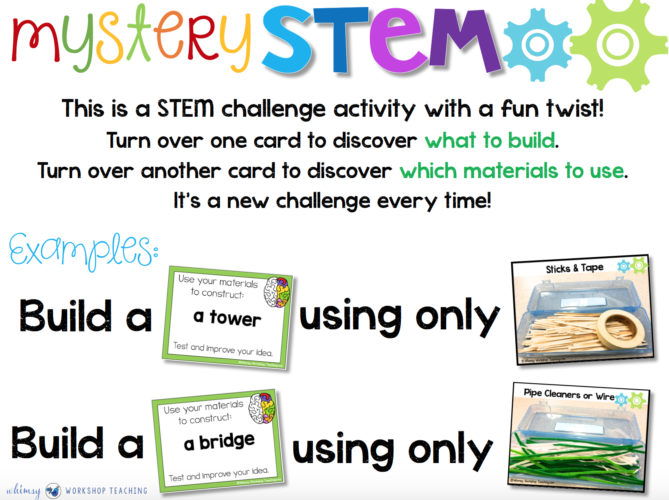 Mystery STEM game board