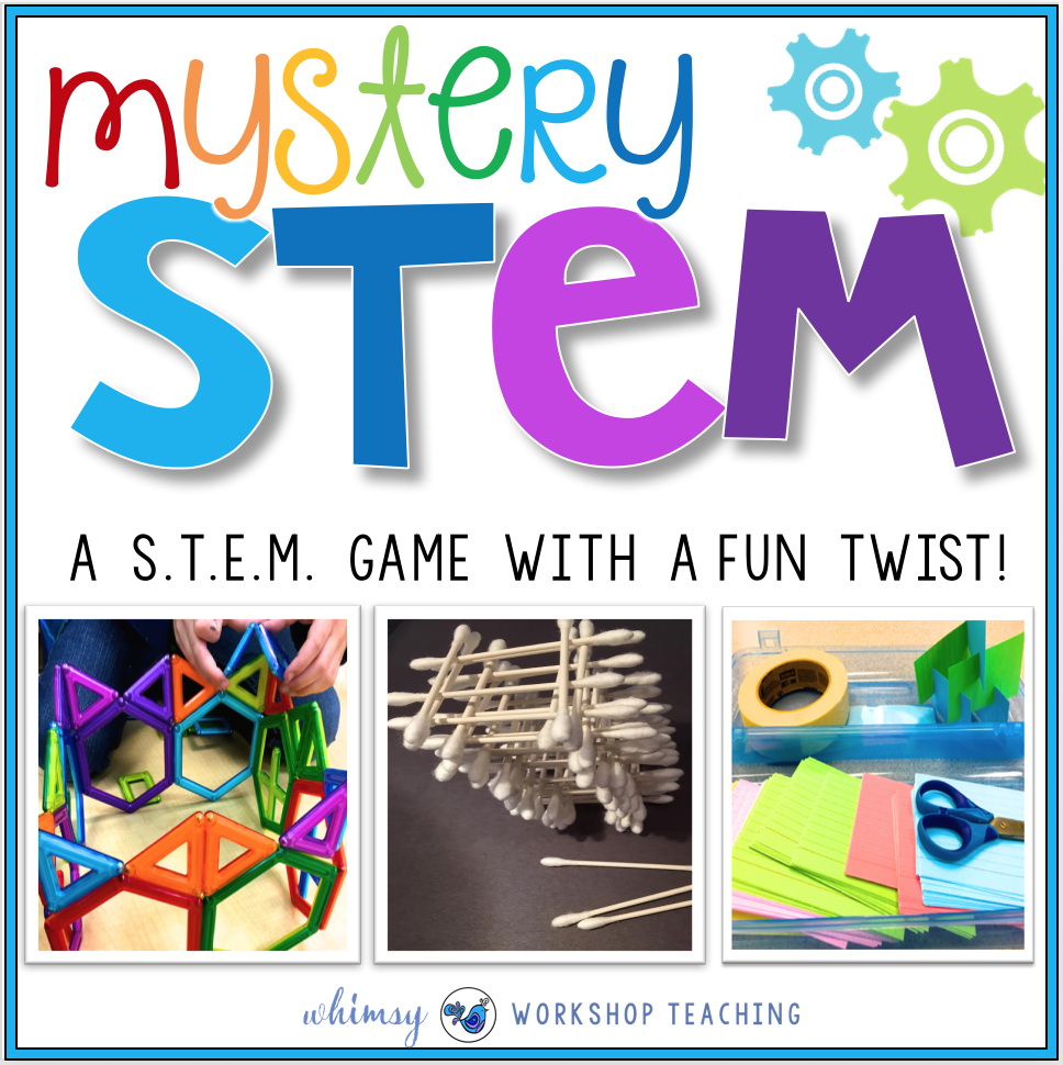 Mystery STEM is a fun game that adds more challenge to your STEM activities!