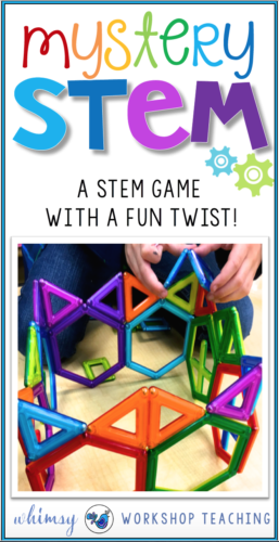 Add a fun twist to your STEM exploration with the Mystery STEM game! Students are challenged to build with limited supplies and encouraged to share reflections with friends. There are thinking cards and a reflection booklet to complete after building for a rigorous fun STEM activity any time!