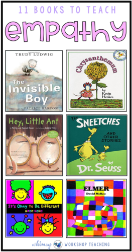 A clickable list of books to help teach empathy, kindness and other social skills to children, along with a link to FREE instant downloads for social skills resources.