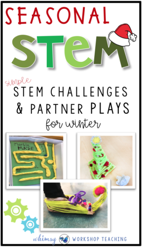 Seasonal STEM challenges are so engaging and authentic when they are introduced with partner plays! These fun seasonal STEM challenges are perfect for use all year long!