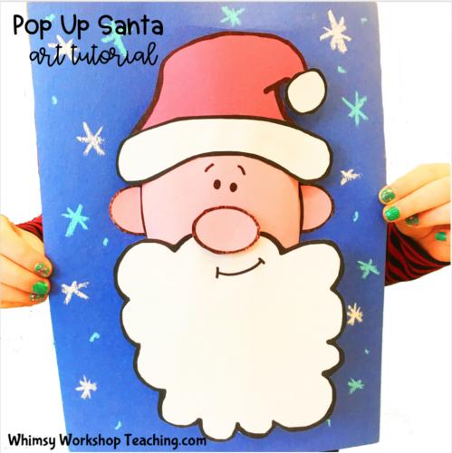 Pop Up Santa Art Tutorial