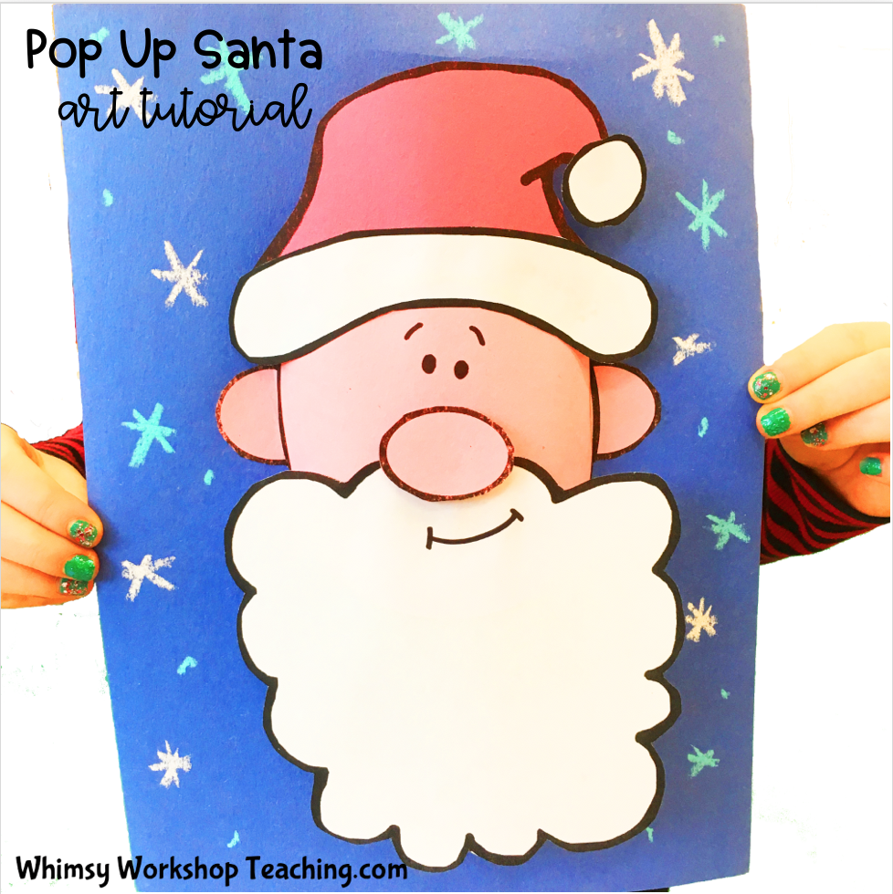 Pop Up Santa art tutorial