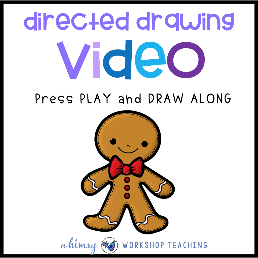 Directed Drawing Gingerbread Man